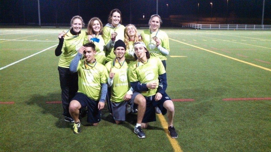 Intramural Football Champions - Team Green - 2014-1