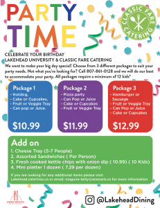 Party Time kids birthday party packages