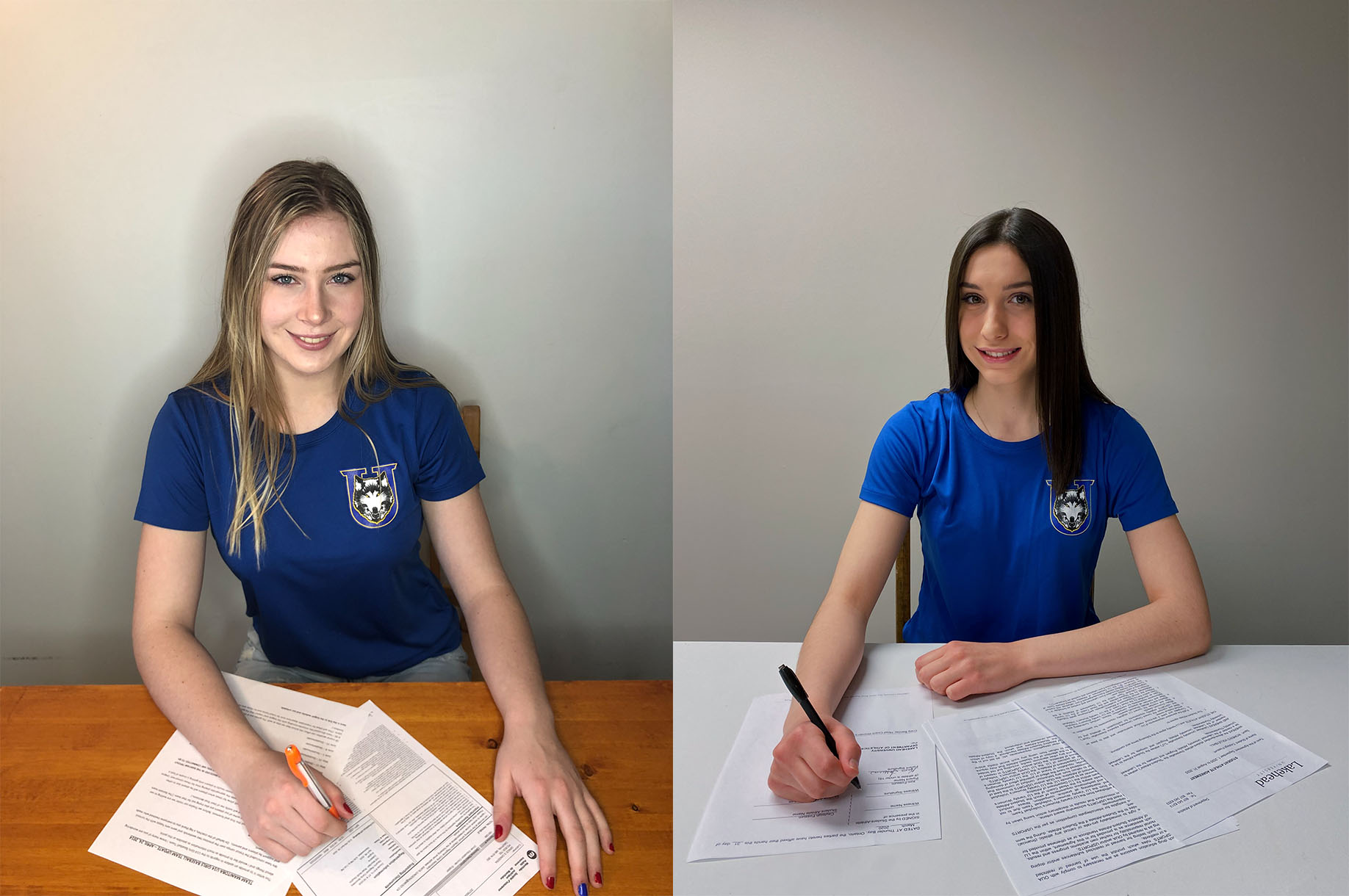 Cayleigh Fossum of Gorham, ON and Hannah Gingera of Dauphin, MB